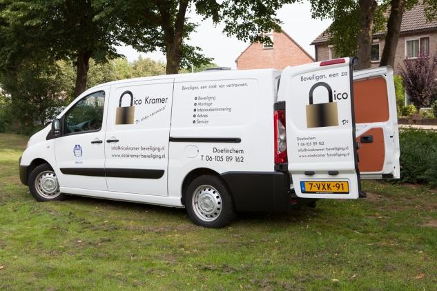 Volledig uitgeruste servicewagen Nico Kramer Beveiliging